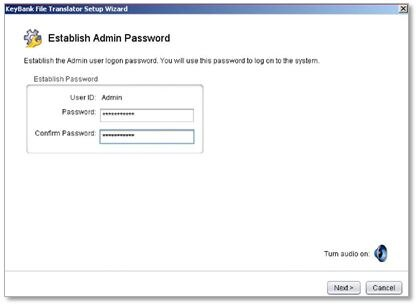 establish admin password